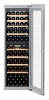 Vinoteca Liebherr EWTgw-3583 empotrable |  (2 temperaturas) | Frío ventilado / 2 zonas temp.| 178X56X55cms | 271 L | Puerta Cristal Blanco | Clase G
