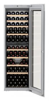 Vinoteca Liebherr EWTgb-3583 empotrable |  (2 temperaturas) | Frío ventilado / 2 zonas temp.| 178X56X55cms | 271 L | Puerta Cristal Negro | Clase G