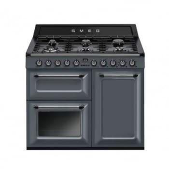 Cocina Victoria Smeg TR90GR Gris de 90 cm, Encimera de Gas con 5 Zonas de cocción, 1 Horno Termoventilado con limpieza Vapor Clean   Clase A