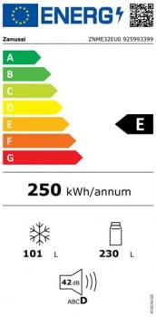 Frigorífico Combi Zanussi ZNME32EU0 | 1860x595x650mm | Twintech & Multiflow | display LED | Clase E - 4