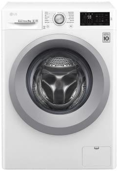 Lavasecadora Blanca LG F4J3TM5WD Inverter Direct Drive 8/5kg | 1400rpm | Clase D(lavado)/E(secado)| Serie 100