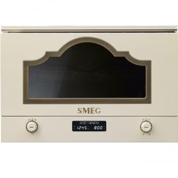 Microondas Cortina Smeg Integrable MP722PO Crema   6 funciones   850 W Micro   1250W Grill