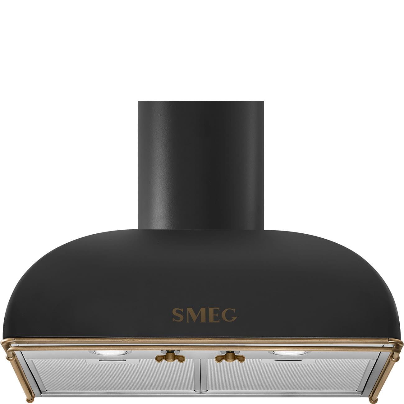 Campana Colonial Smeg KS59AOE2 Antracita de 60cm   Aspiración 820 m3/h   Clase A -