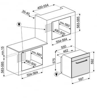 Horno Multifunción Smeg SF6922PPZE1 Crema | Victoria | Retro | 60cm | Termoventilado | VaporClean - 3