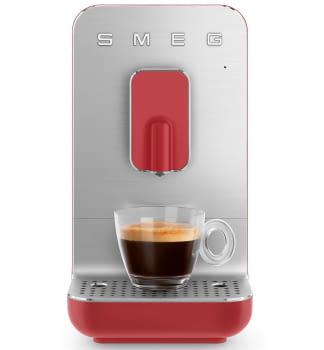 Cafetera Roja Smeg BCC01RDMEU 50'Style con Molinillo Integrado |1 Tipo de Té & 7 de Café | Sistema Anti-Goteo | 100% Automática