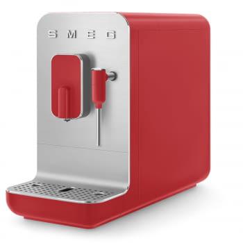 Cafetera Smeg Roja BCC02RDMEU 50'Style con Vaporizador y Molinillo Integrado | 8 funciones y función vapor | Sistema Anti-Goteo | 100% Automática - 1
