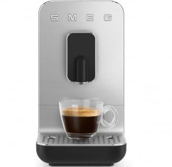 Cafetera Negra Smeg BCC01BLMEU 50'Style con Molinillo Integrado |1 Tipo de Té & 7 de Café | Sistema Anti-Goteo | 100% Automática