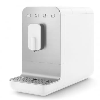 Cafetera Blanca Smeg BCC01WHMEU 50'Style con Molinillo Integrado |1 Tipo de Té & 7 de Café | Sistema Anti-Goteo | 100% Automática