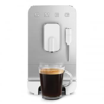 Cafetera Smeg Blanca BCC02WHMEU 50'Style con Vaporizador y Molinillo Integrado | 8 funciones y función vapor | Sistema Anti-Goteo | 100% Automática
