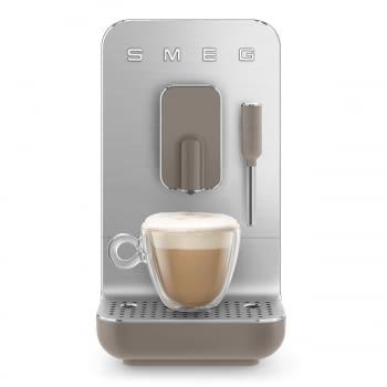 Cafetera Smeg Taupe BCC02TPMEU 50'Style con Vaporizador y Molinillo Integrado | 8 funciones y función vapor | Sistema Anti-Goteo | 100% Automática