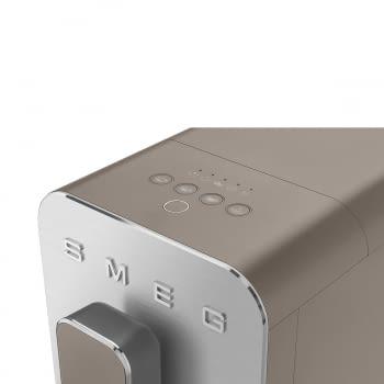Cafetera Smeg Taupe BCC02TPMEU 50'Style con Vaporizador y Molinillo Integrado | 8 funciones y función vapor | Sistema Anti-Goteo | 100% Automática - 10