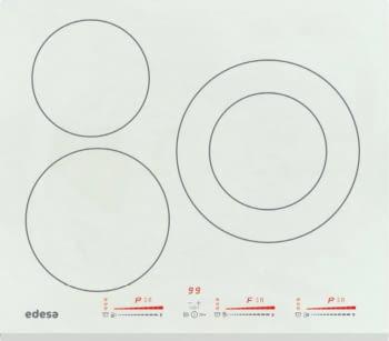 Placa Inducción Edesa Blanca EIM-6328 B WH | 520x590x58mm | Stop&Go | Bloqueo de seguridad