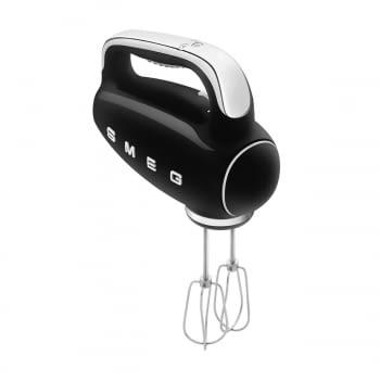 Batidora de Mano Smeg HMF01BLEU Negra |Amasadora de Varillas | 9 niveles de Velocidad | 50' Style