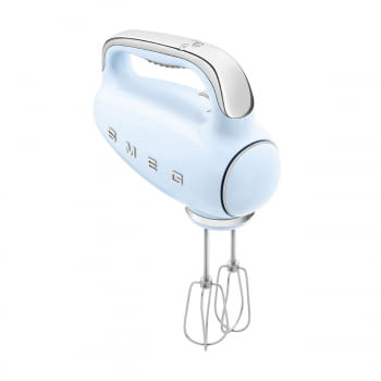 Batidora de Mano Smeg HMF01PBEU Azul pastel | Amasadora de Varillas | 9 niveles de Velocidad | 50' Style