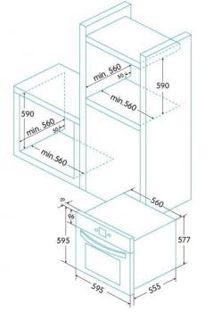 Horno Multifunción Edesa EOE-7160 X   Limpieza Easy-clean   60x60cm   70L   Inox - 3