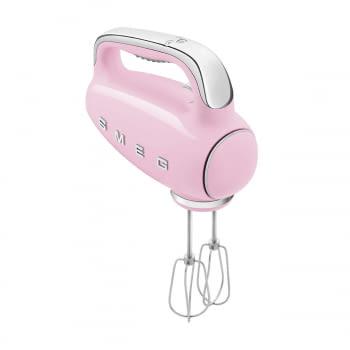 Batidora de Mano Smeg HMF01PKEU Rosa |Amasadora de Varillas | 9 niveles de Velocidad | 50' Style
