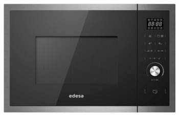 Microondas integrable negro Edesa EMW-2530I-GX BK con grill | 1200W