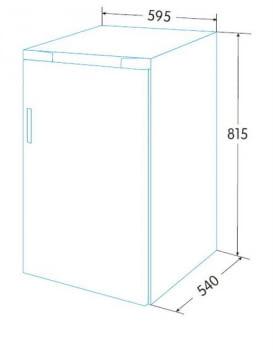 Frigorífico Integrado Bajo Encimera Edesa EFS-0512 I/A | 82cm | Clase F - 2