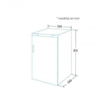 Congelador Integrable Edesa EZS-0511 I/A con sistema de refrigeración cíclico | 81,5x59,5cm | Clase F - 2
