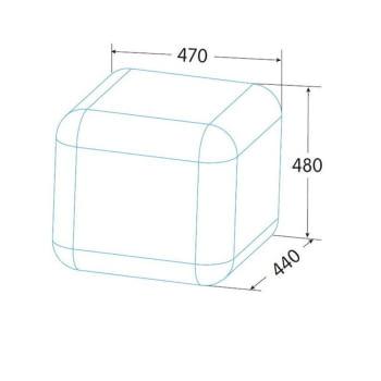 Frigorífico Una Puerta Edesa EFS-0411 WH Blanco | Table Top Retro | Cíclico | 85cm | Clase F - 3