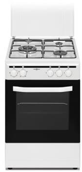 Cocina Gas Natural Vitrokitchen CB5535BNE | 3 Fuegos | 85x50x55cm | Blanco