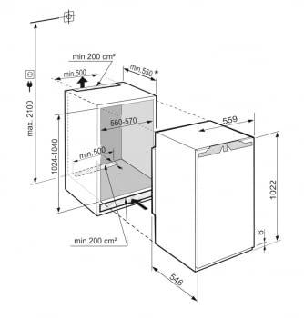 Frigorifico Integrable Liebherr IRe-4020 | EasyFresh | 102,4-104/56-57/55,0 cm | Clase E - 4