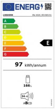 Frigorifico Integrable Liebherr IRe-4020 | EasyFresh | 102,4-104/56-57/55,0 cm | Clase E - 5
