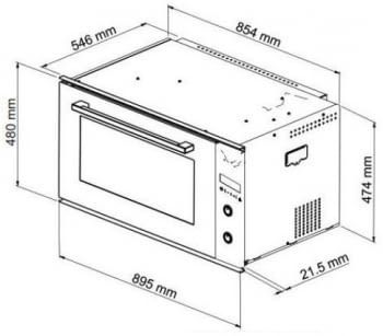 Horno Multifunción Cata CMD 9208 BK | Ancho 90cm | 93L | 10 Funciones | Negro - 2
