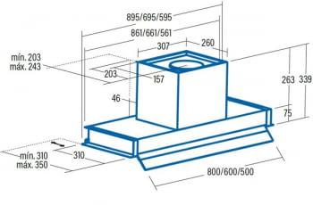 Grupo Filtrante Cata Corona 70   3 niveles de extracción   Visera Cristal   INOX - 5