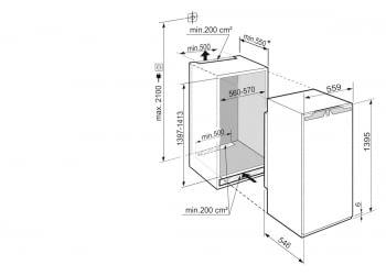 Frigorífico empotrable Integrable Liebherr IRe-4521   Cajón EasyFresh   139,7/141,3X56/57X55cm   Con congelador   CLase E - 4