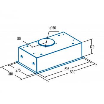 Grupo Filtrante CATA G 50 LUX BK Negro | Bajo Mueble | Max. 400 m³/h | Clase C - 2