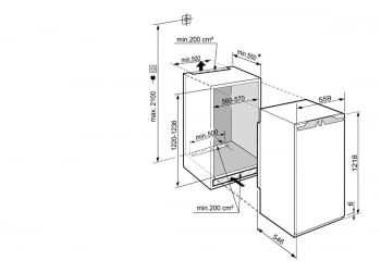 Frigorifico Integrable Liebherr IRBd-4150  BioFresh  122/123,6 X 56/57 X 55 cm   Clase D - 4