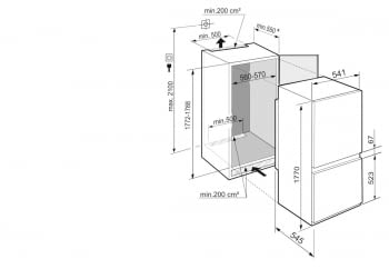 Frigorifico Combi Integrable Liebherr ICBSd-5122 | SmartFrost | BioFresh | 177,2-178,8/56-57/55cm | Puerta deslizante | Clase D - 4