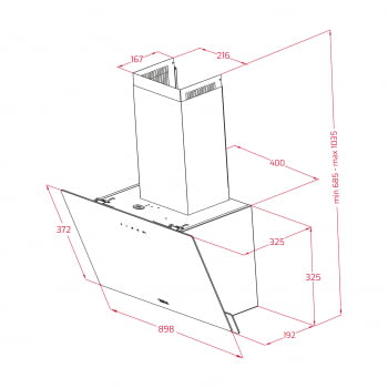 Campana decorativa vertical Teka DVN 97050 TTC WH | Blanca | 90cm | Gama Easy | 485 m³/h | Clase A - 6