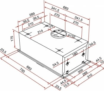 Grupo Filtrante TEKA GFH 73 Inoxidable, de 73 cm a 329 m³/h | Clase D - 2