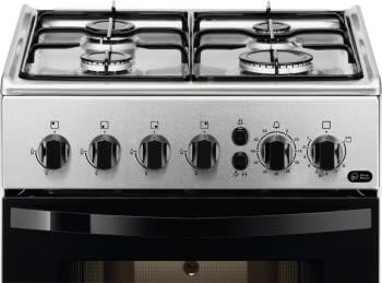 Cocina a Gas zanussi ZCG212G1XA Inox de 86 x 50 cm con 4 quemadores gas butano y Horno de gas con Grill - 2