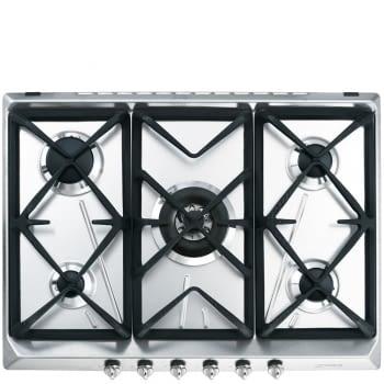 Placa de Gas SMEG SRV576GH5 | 70 cm | Inoxidable | 5 Quemadores
