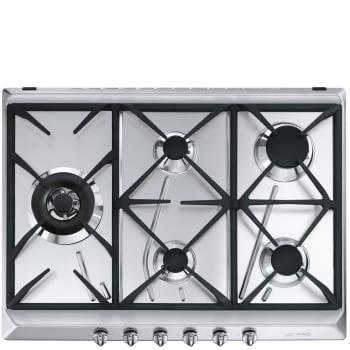 Placa de Gas SMEG SRV575GH5 70 cm | Inoxidable | 5 Quemadores