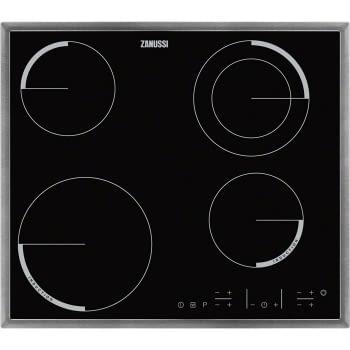 Placa de Inducción Mixta Zanussi ZEN6641XBA de 60 cm con 4 Zonas (2 inducción + 2 vitro) Marco acero inoxidable con anclaje easy-fix