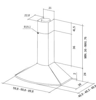 MEPAMSA TENDER H 70 CAMPANA INOX V2 705M3/H - 2