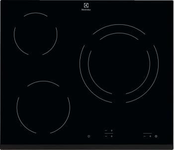 Placa Vitrocerámica Electrolux EHF6231FOK de 60 cm con 3 Zonas de cocción Max 27 cm
