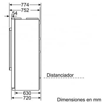 Frigorífico Americano Bosch KAG90AI20 Inox | Envío + Instalación Gratis - 4