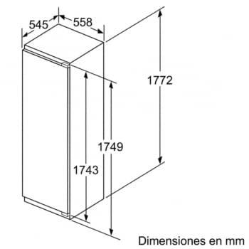 Frigorífico integrable Bosch KIR81AF30 de 177.5 x 56 cm A++   Serie 6   Stock - 3