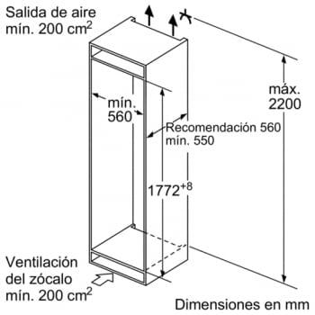 Frigorífico integrable Bosch KIR81AF30 de 177.5 x 56 cm A++   Serie 6   Stock - 4