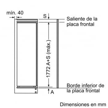 Frigorífico integrable Bosch KIR81AF30 de 177.5 x 56 cm A++   Serie 6   Stock - 5