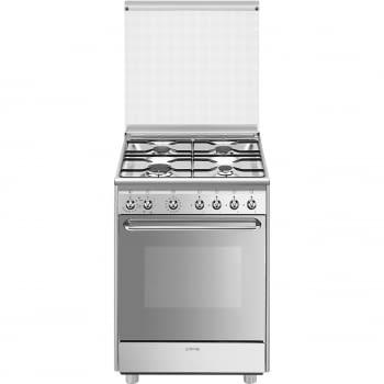 Cocina Smeg CX60SV9 60cm Inox Fogones de Gas con Tapa y Horno Eléctrico | Envío Gratis