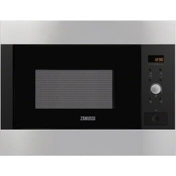 Microondas Zanussi ZBG26542XA Integrable de 900 W con 5 niveles de potencia Inox antihuellas de 26 l con Grill