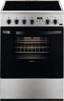 Cocina Vitrocerámica Zanussi ZCV65311XA Inox de 85 x 60 cm con 4 zonas y Horno Grill Multifunción Clase A