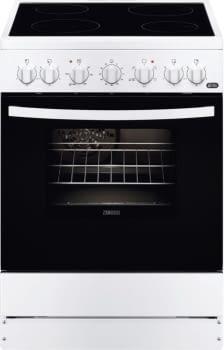 Cocina Vitrocerámica Zanussi ZCV65201WA Blanca de 85 x 60 cm con 4 zonas y Horno Grill Multifunción Clase A
