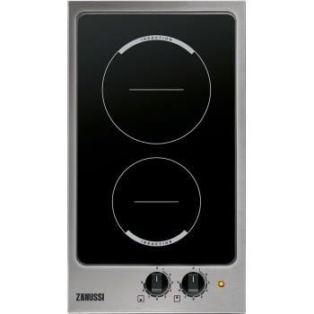 Placa Modular Zanussi ZEI3921IBA Inox de 29 cm con 2 Zonas de inducción Mandos frontales | STOCK